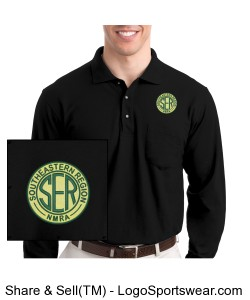 Long Sleeve Silk Touch Polo with Pocket Design Zoom